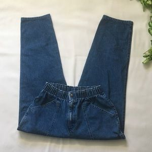 Vintage Denim Paper Bag Utility Pants
